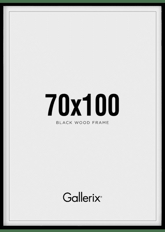 Bilderrahmen Holzrahmen Schwarz 70x100-0