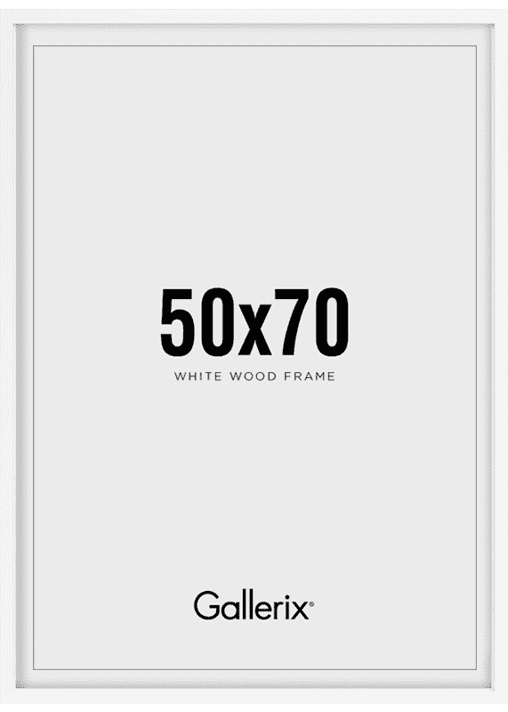 Bilderrahmen Holzrahmen Weiß 50x70-0