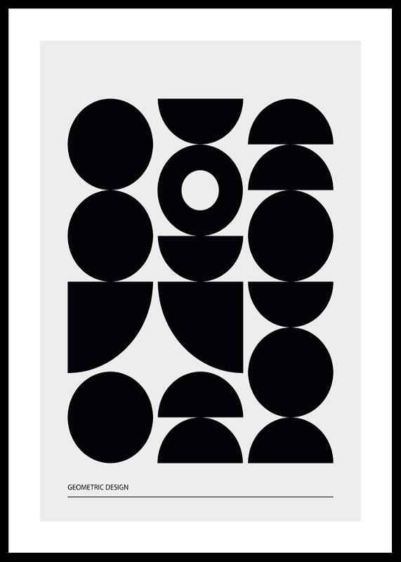 Geometric Graphic Black No1