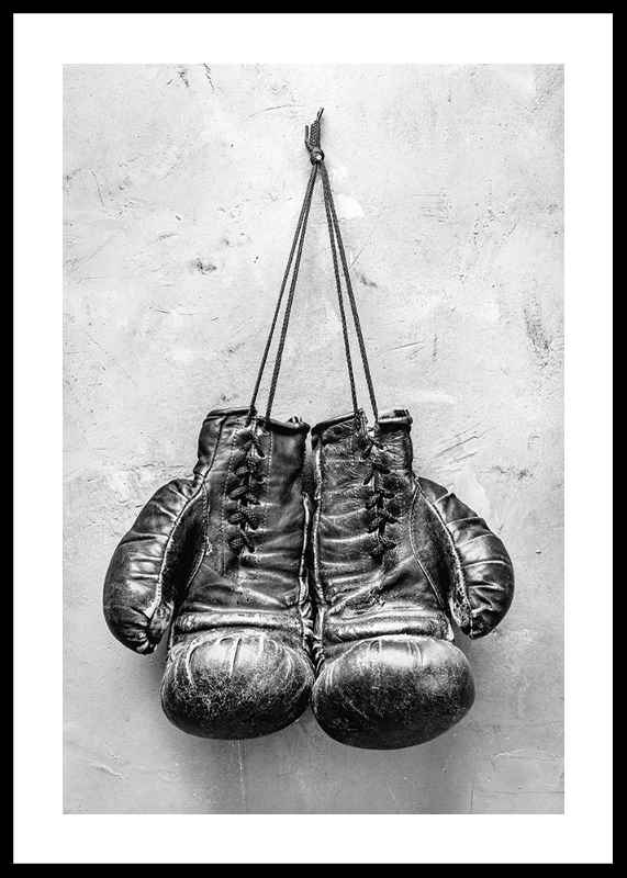 Worn Boxing Gloves-0
