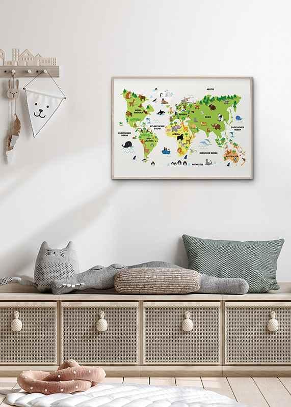 Weltkarte Tiere-4
