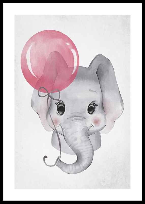 Elephant Pink Balloon-0