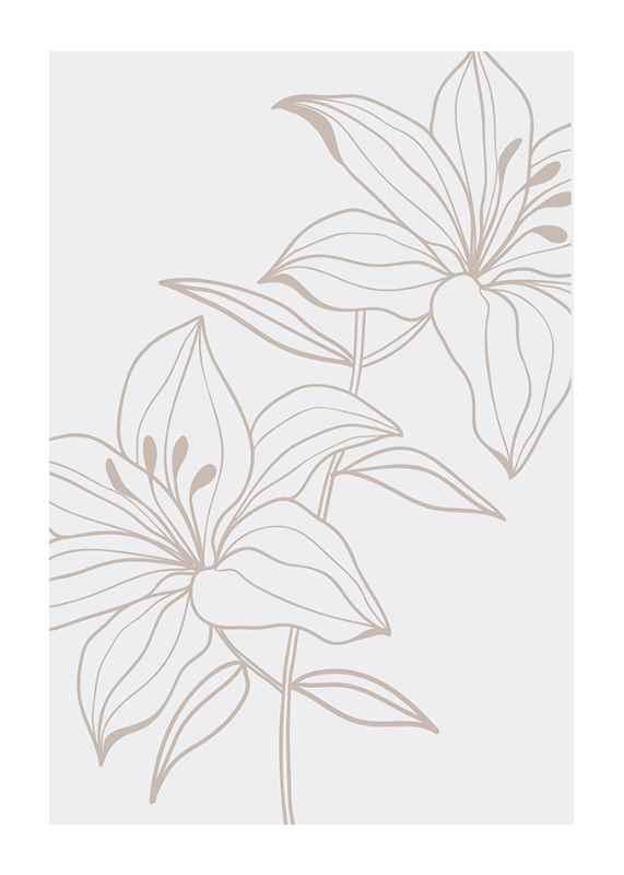 Line Art Flower No1-1