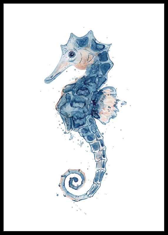 Blue Seahorse-0