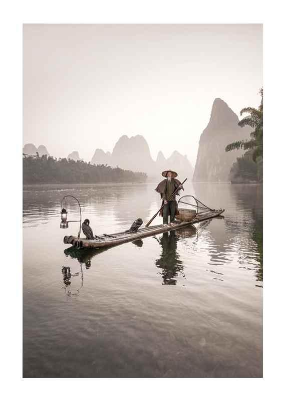 Fisherman And Birds-1