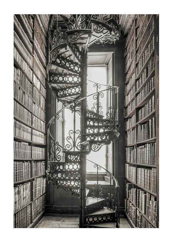Books And Staircase-1