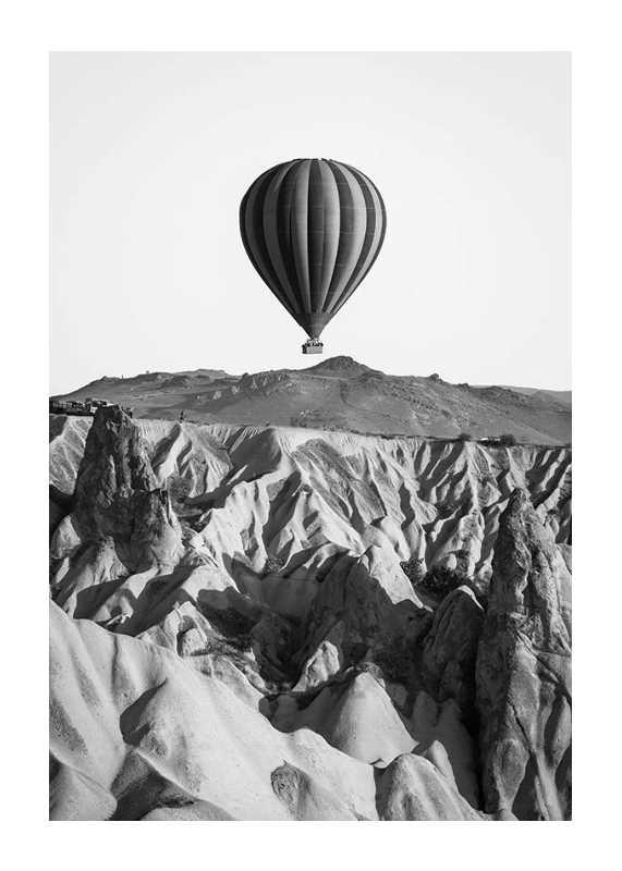 Hot Air Balloon B&W-1