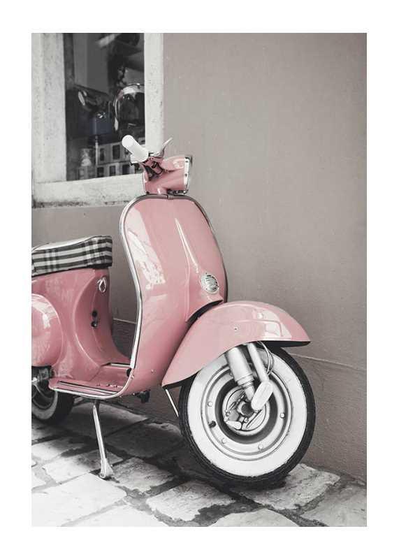 Pink Old Vespa-1