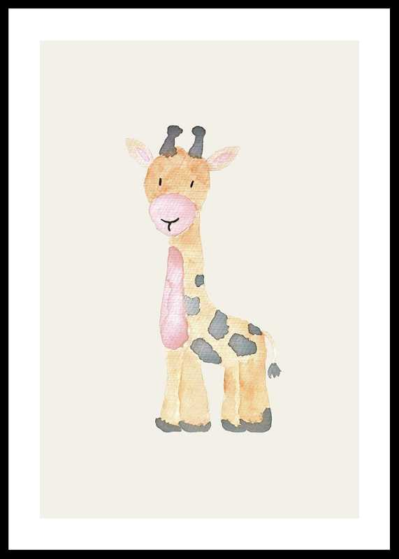 Watercolor Giraffe-0