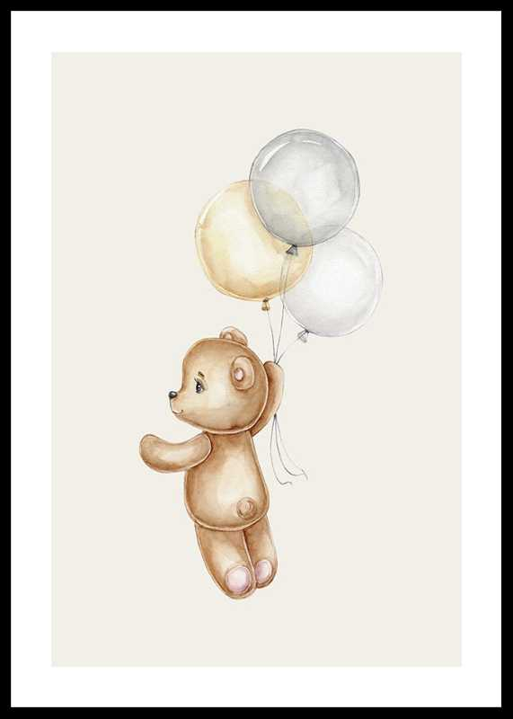 Teddy With Balloons-0