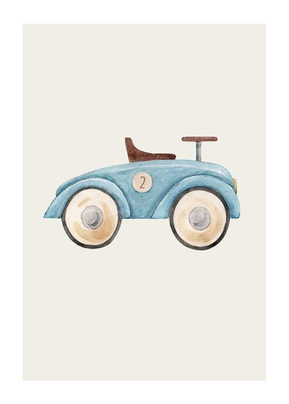 Blue Toy Car-1