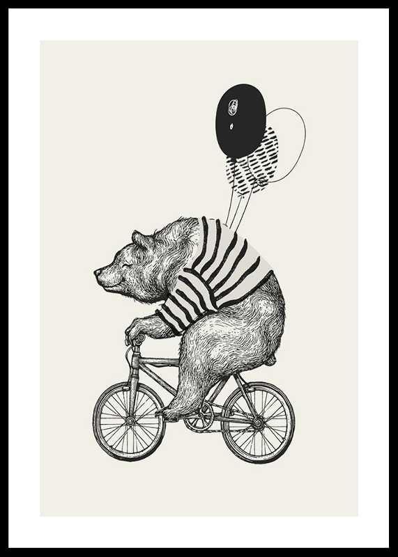 Bear On Bicycle