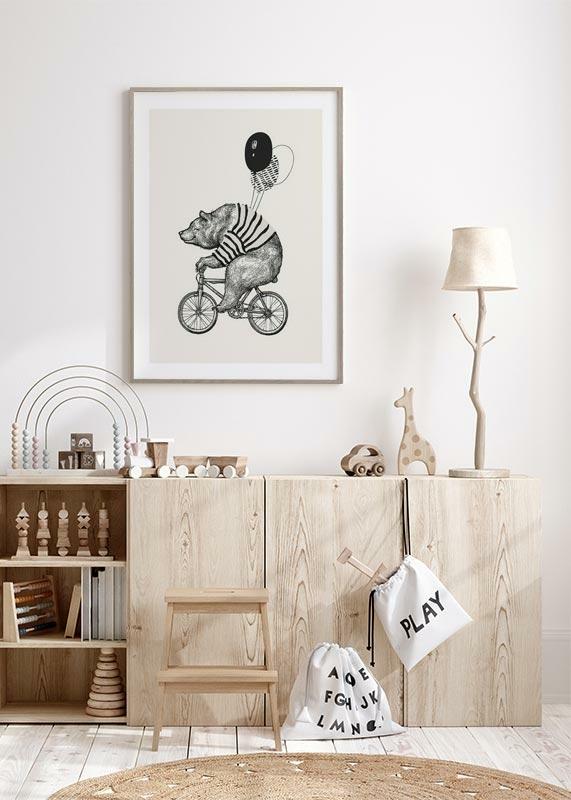 Bear On Bicycle-4
